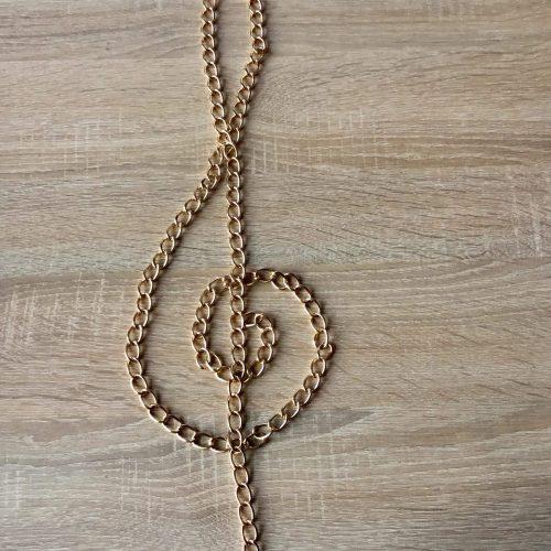 Lanț din metal auriu-0