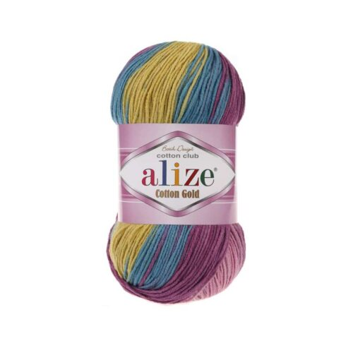 fire de tricotat alize cotton gold batik
